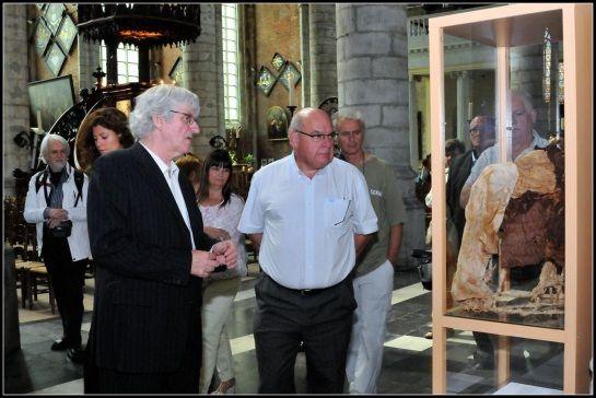 Mr. Liefooghe with the Mayor of Ghent in the exhibition there.